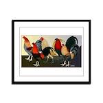 Rooster Dream Team Framed Panel Print