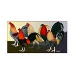 Rooster Dream Team 35x21 Wall Decal
