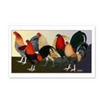 Rooster Dream Team 20x12 Wall Decal