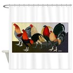 Rooster Dream Team Shower Curtain