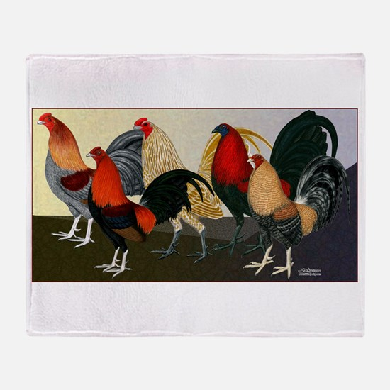 Rooster Dream Team Throw Blanket