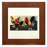 Rooster Dream Team Framed Tile