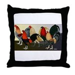 Rooster Dream Team Throw Pillow
