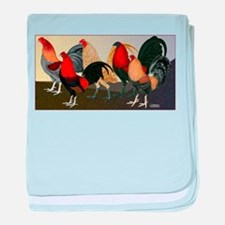 Rooster Dream Team baby blanket