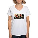 Rooster Dream Team Women's V-Neck T-Shirt