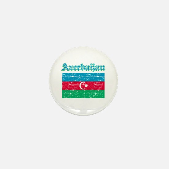 Azerbaijan Flag Designs Mini Button