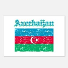 Azerbaijan Flag Designs Postcards (Package of 8)