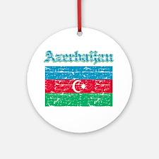 Azerbaijan Flag Designs Ornament (Round)