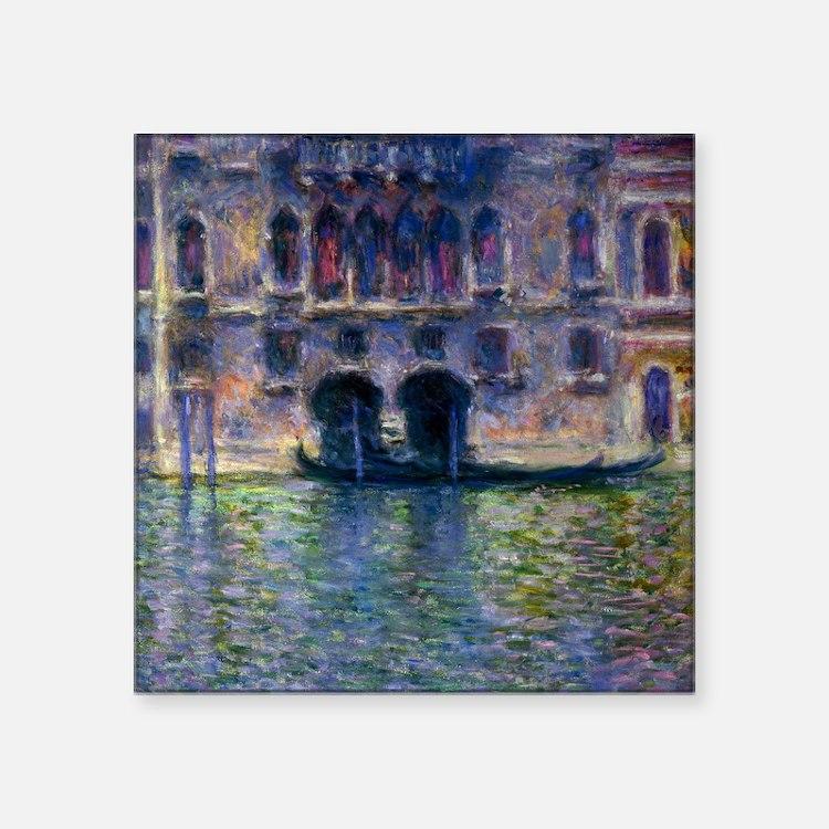 """Claude Monet Palazzo Da Mula Square Sticker 3"""" x 3"""