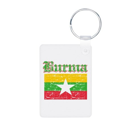 Burma Flag Designs Aluminum Photo Keychain