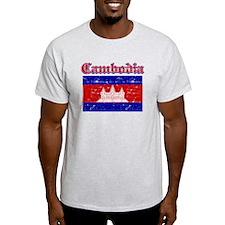 Cambodia Flag Designs T-Shirt