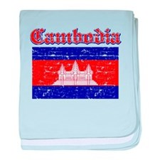 Cambodia Flag Designs baby blanket