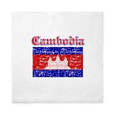 Cambodia Flag Designs Queen Duvet