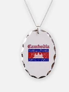 Cambodia Flag Designs Necklace