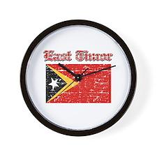 East Timor Flag Designs Wall Clock