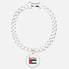 Jordan Flag Designs Charm Bracelet, One Charm