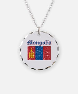 Mongolia Flag Designs Necklace