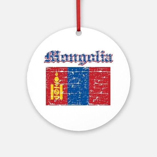 Mongolia Flag Designs Ornament (Round)