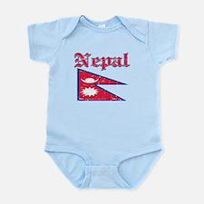Nepal Flag Designs Infant Bodysuit