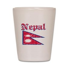 Nepal Flag Designs Shot Glass