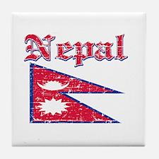 Nepal Flag Designs Tile Coaster