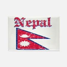 Nepal Flag Designs Rectangle Magnet
