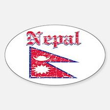Nepal Flag Designs Decal