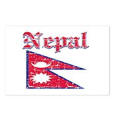 Nepal Flag Designs Postcards (Package of 8)
