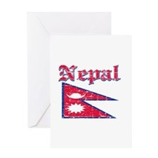 Nepal Flag Designs Greeting Card