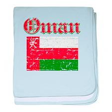 Oman Flag Designs baby blanket