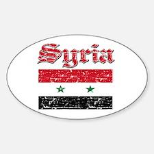 Syria Flag Designs Sticker (Oval 50 pk)