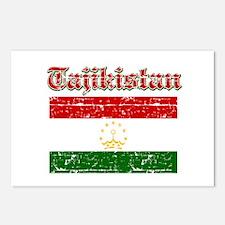 Tajikistan Flag Designs Postcards (Package of 8)