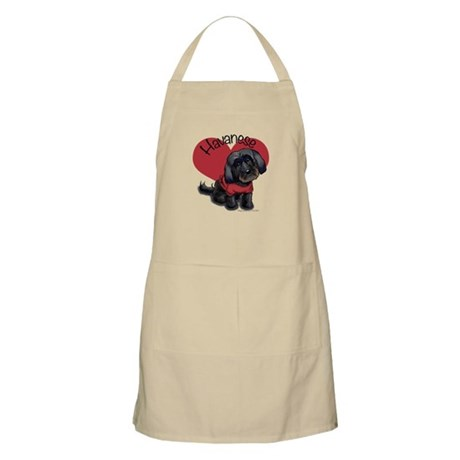 Lovable black Havanese Apron