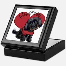 Lovable black Havanese Keepsake Box