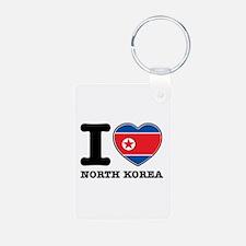 I heart North Korea Keychains