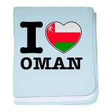 I heart Oman baby blanket