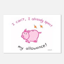 Spent my allowance! Postcards (Package of 8)
