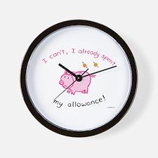 Spent my allowance! Wall Clock