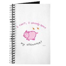 Spent my allowance! Journal