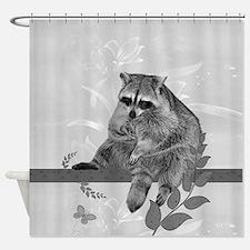 Raccoon In Tree Shower Curtain