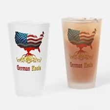 American German Roots Drinking Glass