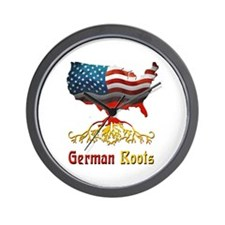 American German Roots Wall Clock