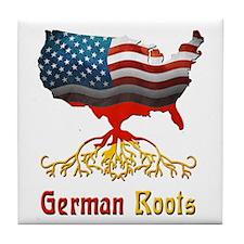 American German Roots Tile Coaster