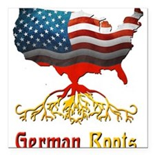 "American German Roots Square Car Magnet 3"" x 3"""