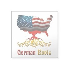 "American German Roots Square Sticker 3"" x 3&q"