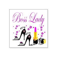 "BOSS LADY Square Sticker 3"" x 3"""