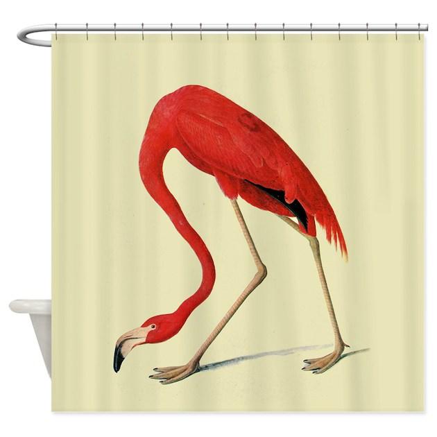 Audubon American Flamingo Shower Curtain By Iloveyou1