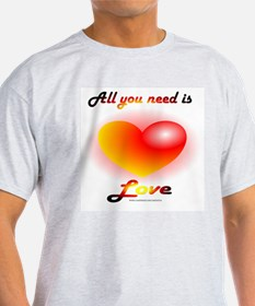 All You Need Is Love Ash Grey T-Shirt