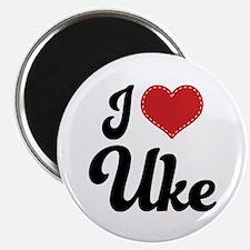 I Heart Uke Magnet