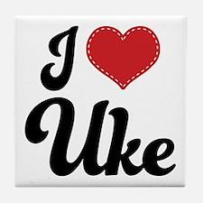 I Heart Uke Tile Coaster
